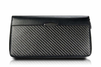 carbon fiber Travel Wallet Zip Around Organizers coldfire