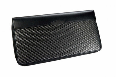 Travel Wallet Zip Around Colt Black Organizers carbon fiber rfid coldfire