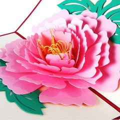 3D Pop Up Greeting Cards Peony Birthday Valentine Mother's Day Christmas Thanks Postcard Gift New XQ_8 Drop shipping
