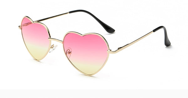 Heart shaped Sunglasses Women red ladies metal Reflective LENS sunGLASSES MEN Mirror oculos de sol NEW sun GLASSES for women