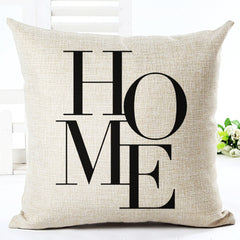 Fashion Style Cotton Linen Cushion Love Print Fundas Sofa Throw Pillow Home Decorative High Quality Square Cojines