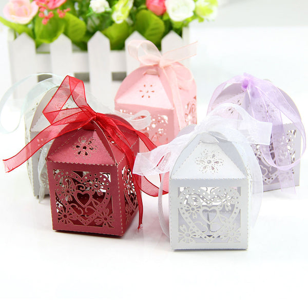 50pcs/lot Paper Gift Box Candy Boxes Gift Boxes Wedding Favors and Gifts Box for Party/Baby Shower/Christmas Supplies