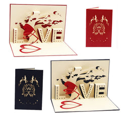 S-home Hot Sale 3D Pop Up Cards Love Tree Heart Valentine Lover Happy Birthday Greeting Card APR5
