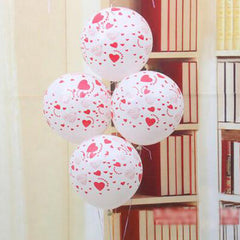 10pcs/lot 12 inches Printed full heart balloon High quality wedding marry Valentine balloons decoration party supplies 75Z
