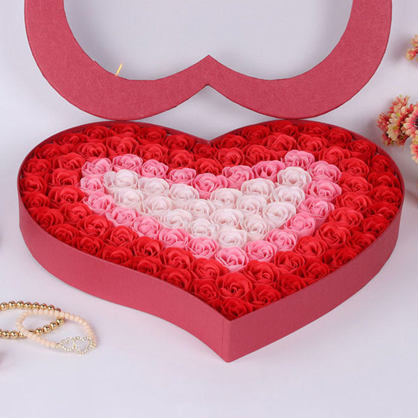100 Pieces/Set Bathroom For Valentine's Day Decoration Flowers with box