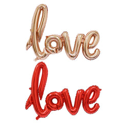 108*65 cm Ligatures LOVE Letter Foil Balloon Anniversary Wedding Valentines Party Decoration Balloon Red Champagne