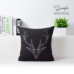Nordic Geometric Deer LOVE Pillow Cover Cushion Cover Home Decor Cushion Decorative Pillow Case Pillow Sham