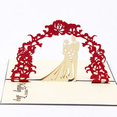 3D Pop Up Greeting Cards Wedding Valentines Anniversary Invitations Personalised