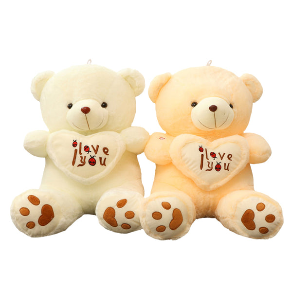 1pcs big size 70cm Stuffed Plush Toys Holding I Love You Heart Big Plush Teddy Bear Soft Gift for Valentine Day Birthday Girls