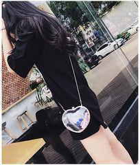 Fashion heart ladies bag