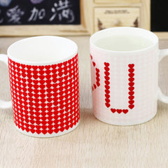I Love You Magic Color Change Ceramic Morning Mug Birthday Fashion Gift Hot Cold Water Color-Changeing Free Shipping SH17