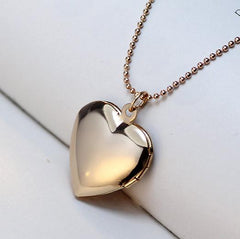 YYW Valentine Lover Gift Animal Dog Paw Print Photo Frames Can Open Locket Necklaces Gold-color Heart Pendants Necklace Women