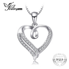 JewelryPalace Love Heart Round Cubic Zirconia Pendant 925 Sterling Silver Jewelry Not Include a Chain Valentine's Day Present