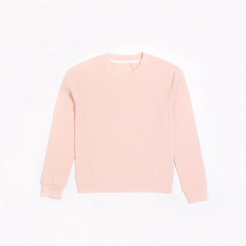 Women's Rose Modal Rib Crewneck