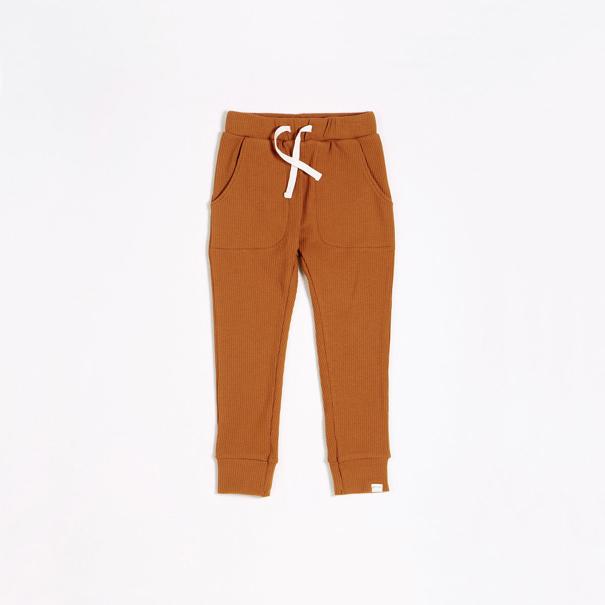 Autumn Brown Modal Rib Jogger (2T-14T)
