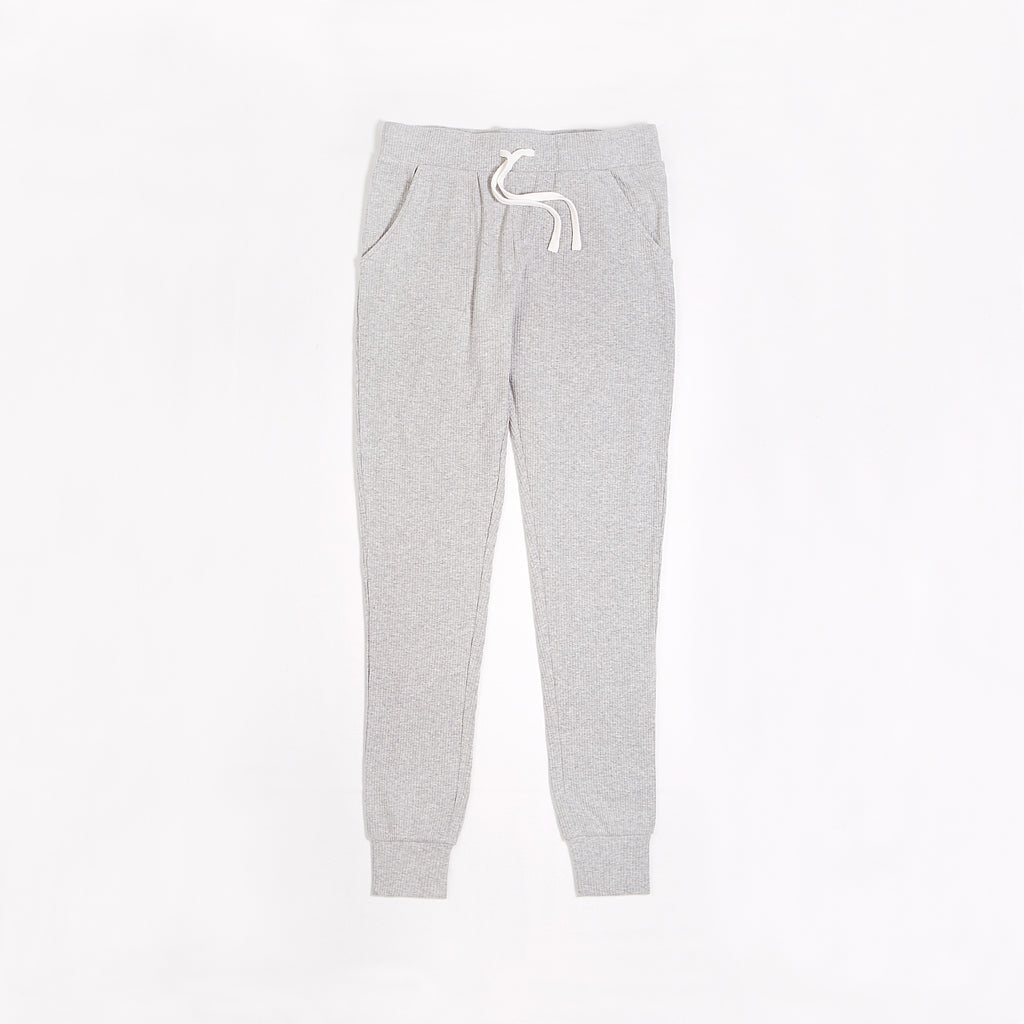 Women's Heather Grey Modal Rib Jogger