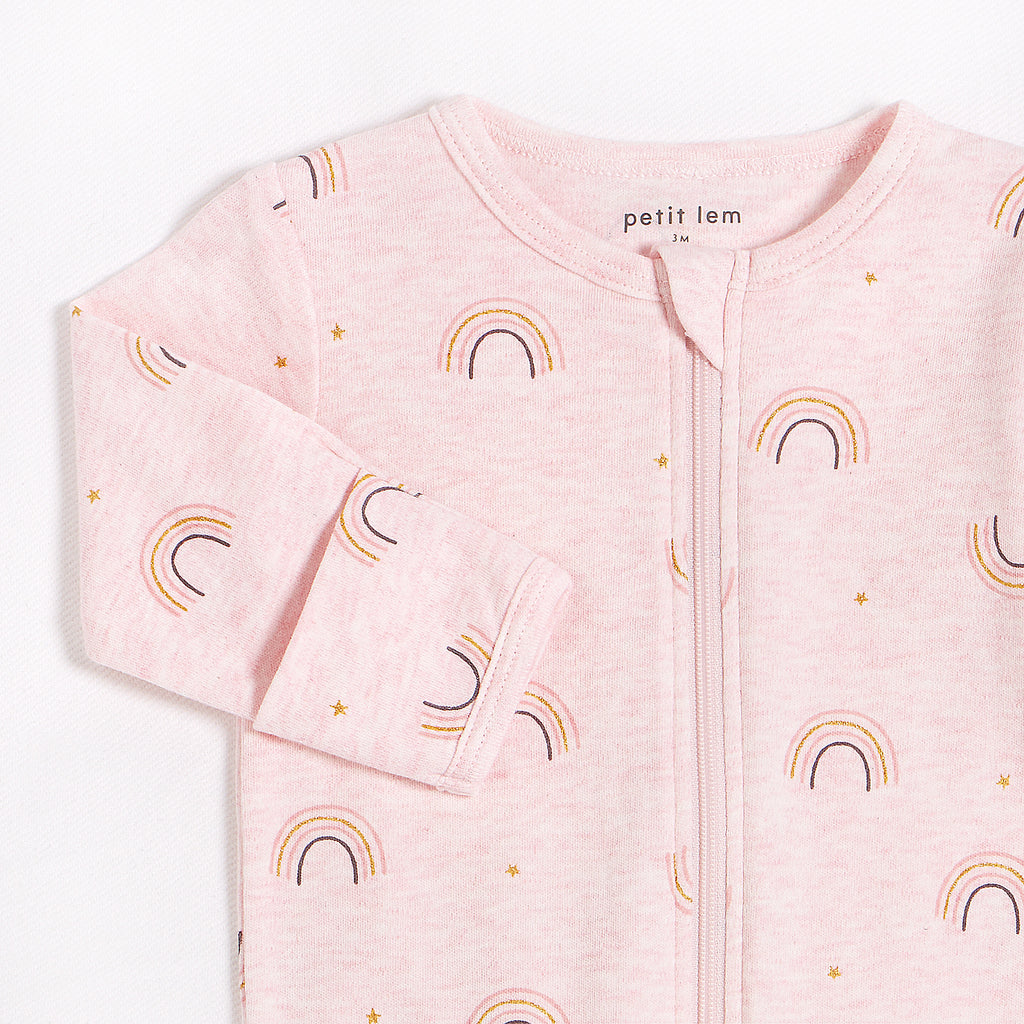 "Heather Pink ""Rainbow"" Sleeper"