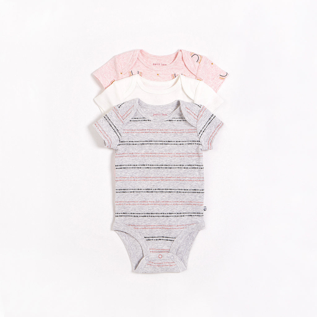 """Rainbow"" Bodysuit Set – 3 Pack"