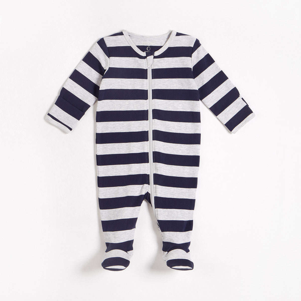 Heather Grey & Blue Stripe Sleeper