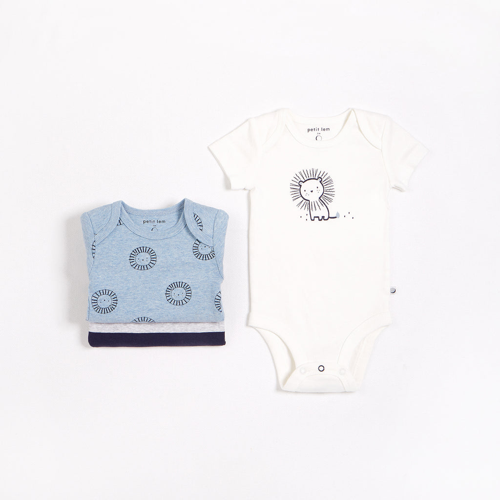 """Little Lions"" Bodysuit Set – 3 Pack"
