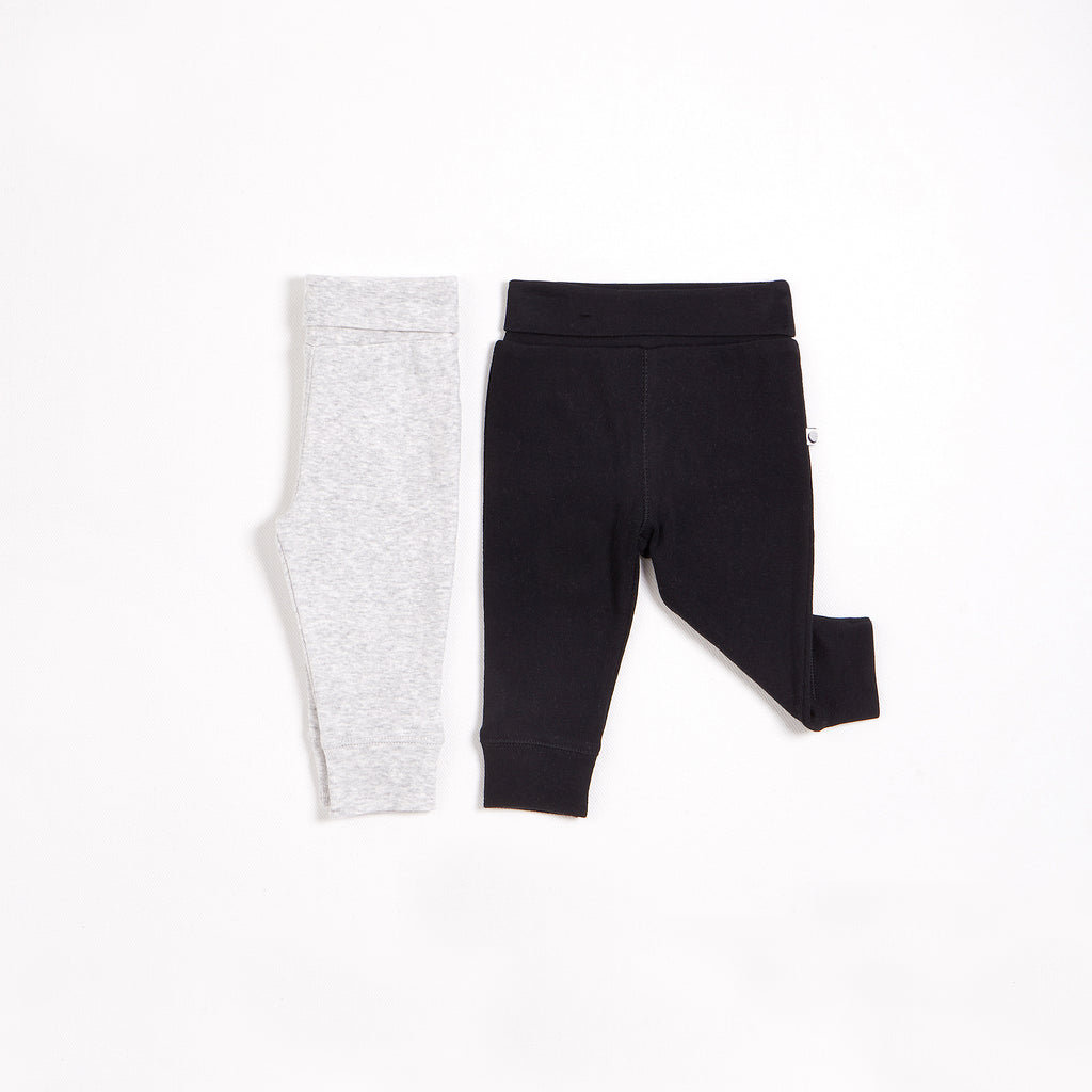 Grey & Black Essential Leggings – 2 Pack