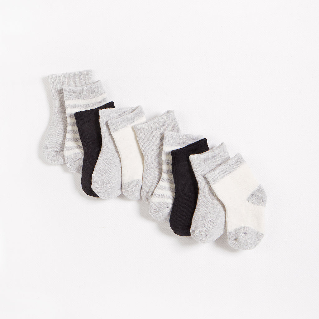 5 Pack of Grey, Black & White Socks