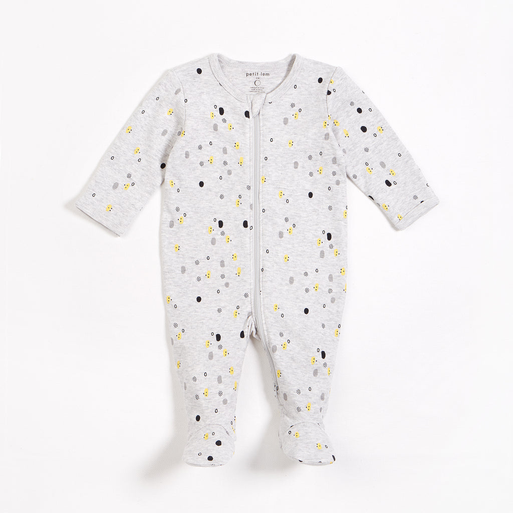 Heather Grey Polka Dot Sleeper