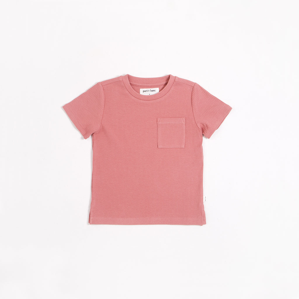 Dusty Rose Modal Rib T-shirt