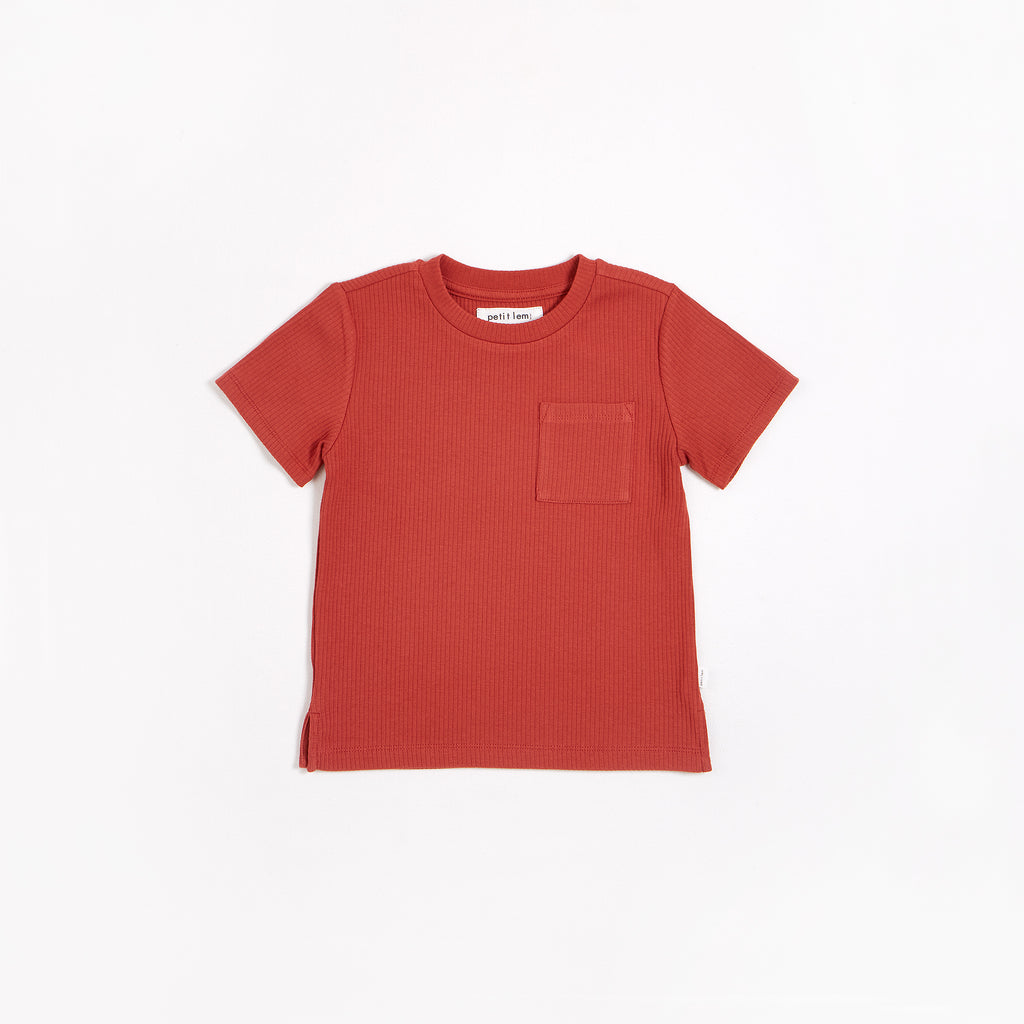 Rouge Brique Modal Rib T-shirt
