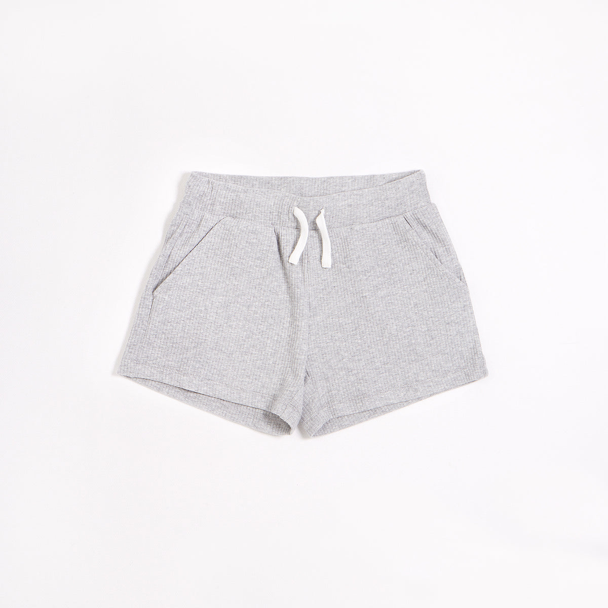 Heather Grey Modal Rib Junior Girls' Shorts