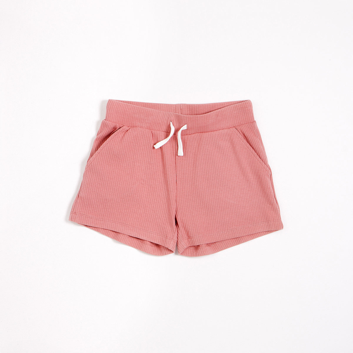 Dusty Rose Modal Rib Junior Girl's shorts