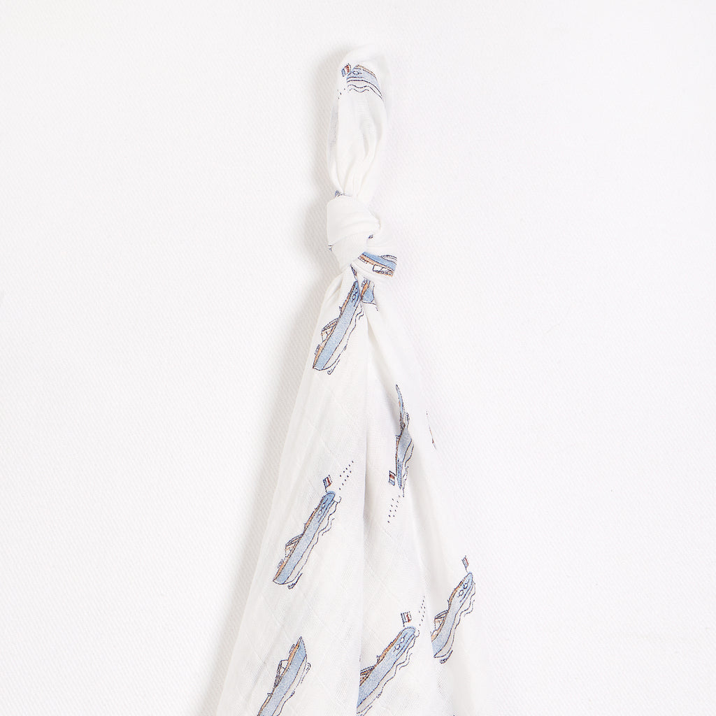 Club Nautique Print on Muslin Swaddle