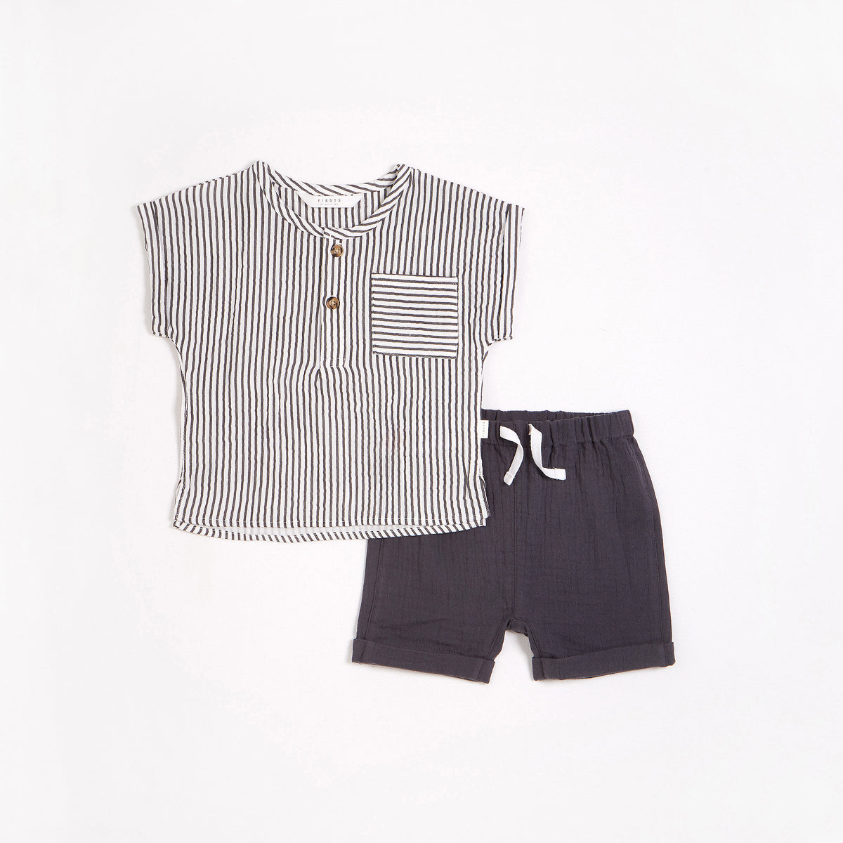 Striped Double Gauze Outfit Set