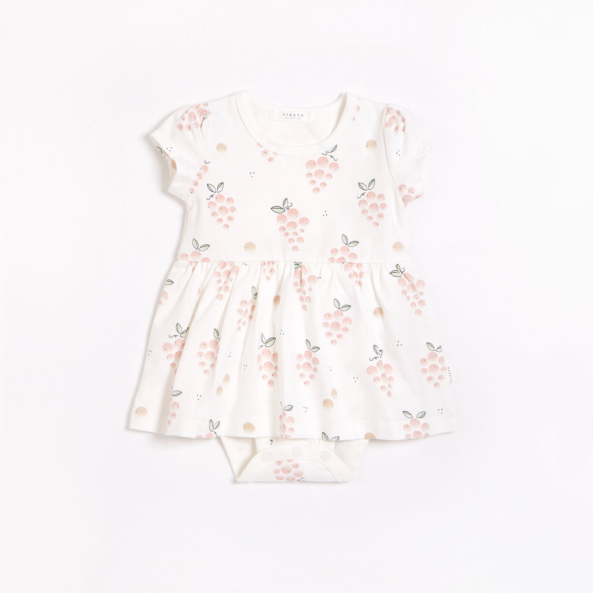 La Vie en Rose Print on Jersey Peplum Dress