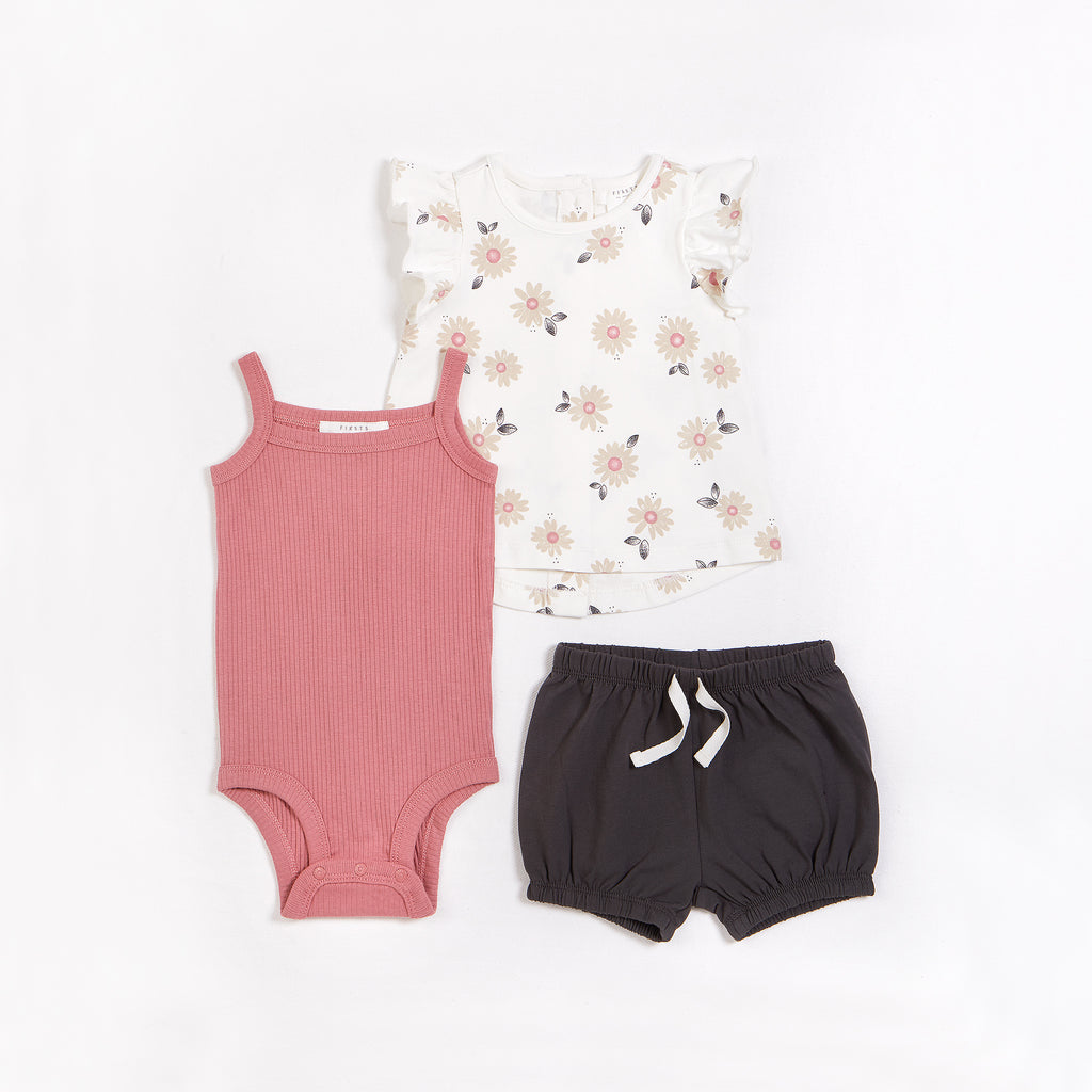 Marguerites 3pc Outfit Set