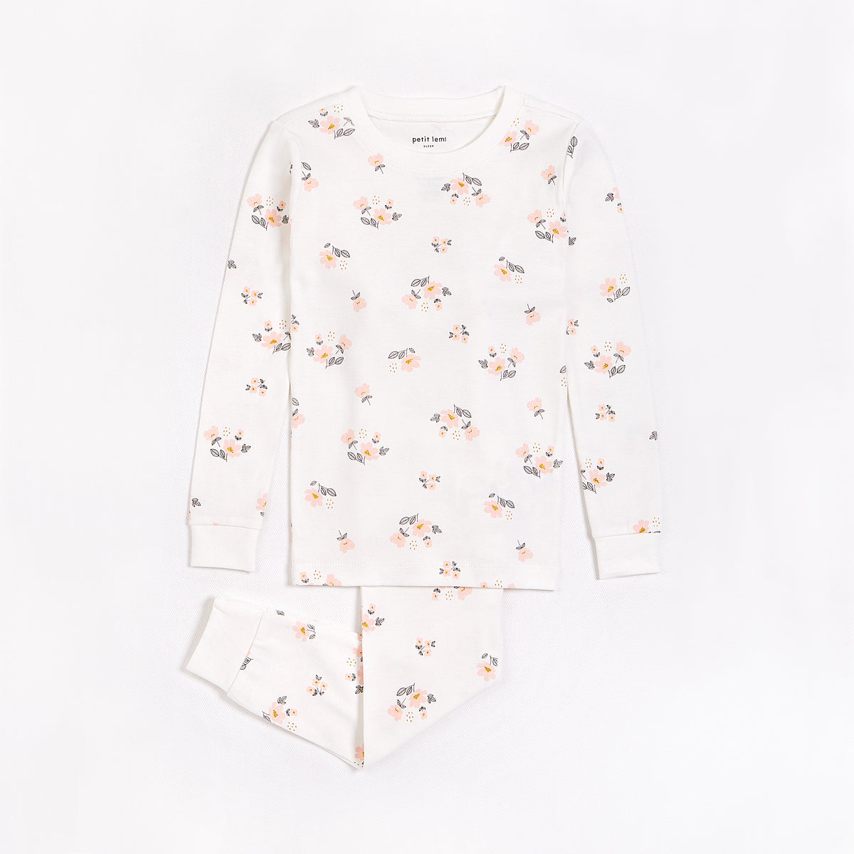 Floral Bloom Print on Off-White PJ Set