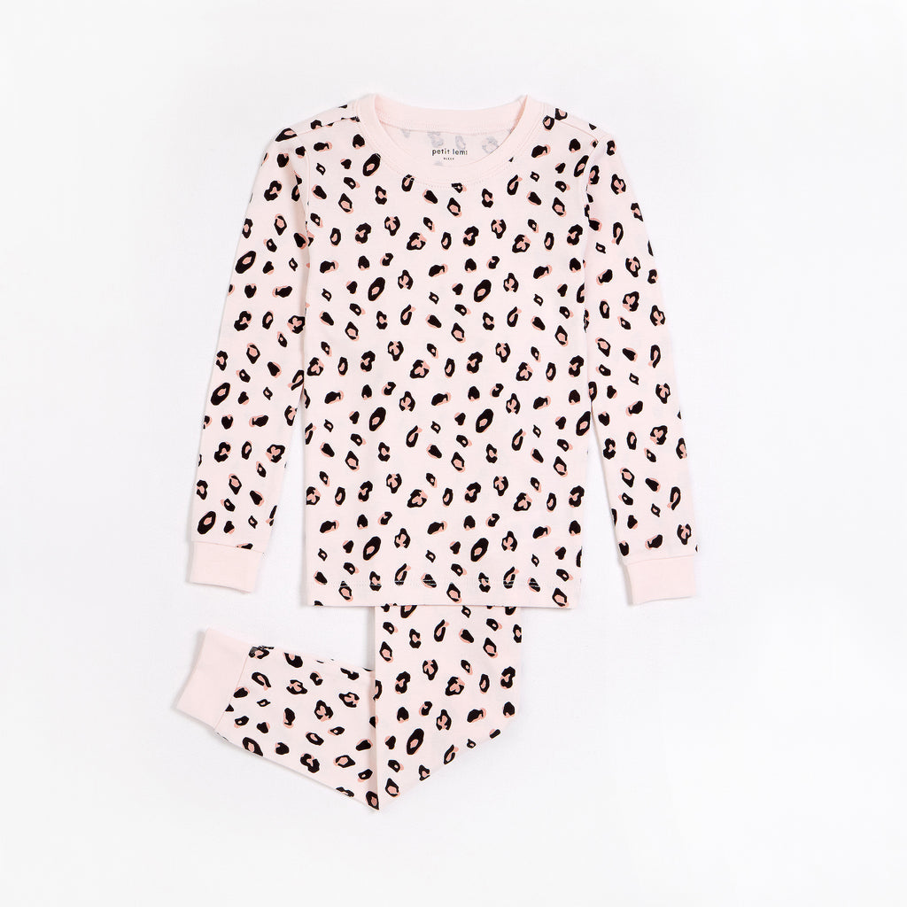 Leopard Print on Pale Pink PJ Set