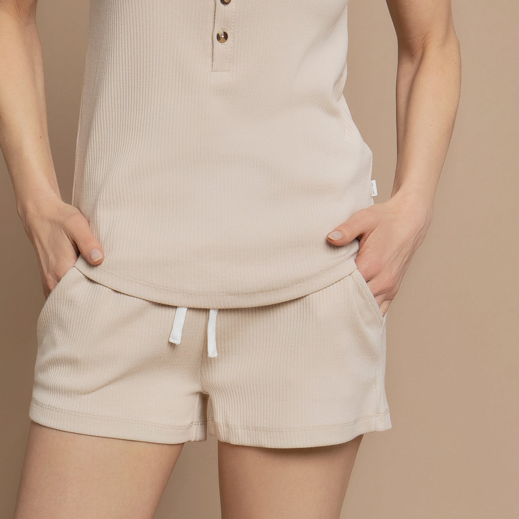 Naturelle Modal Rib Shorts for Women