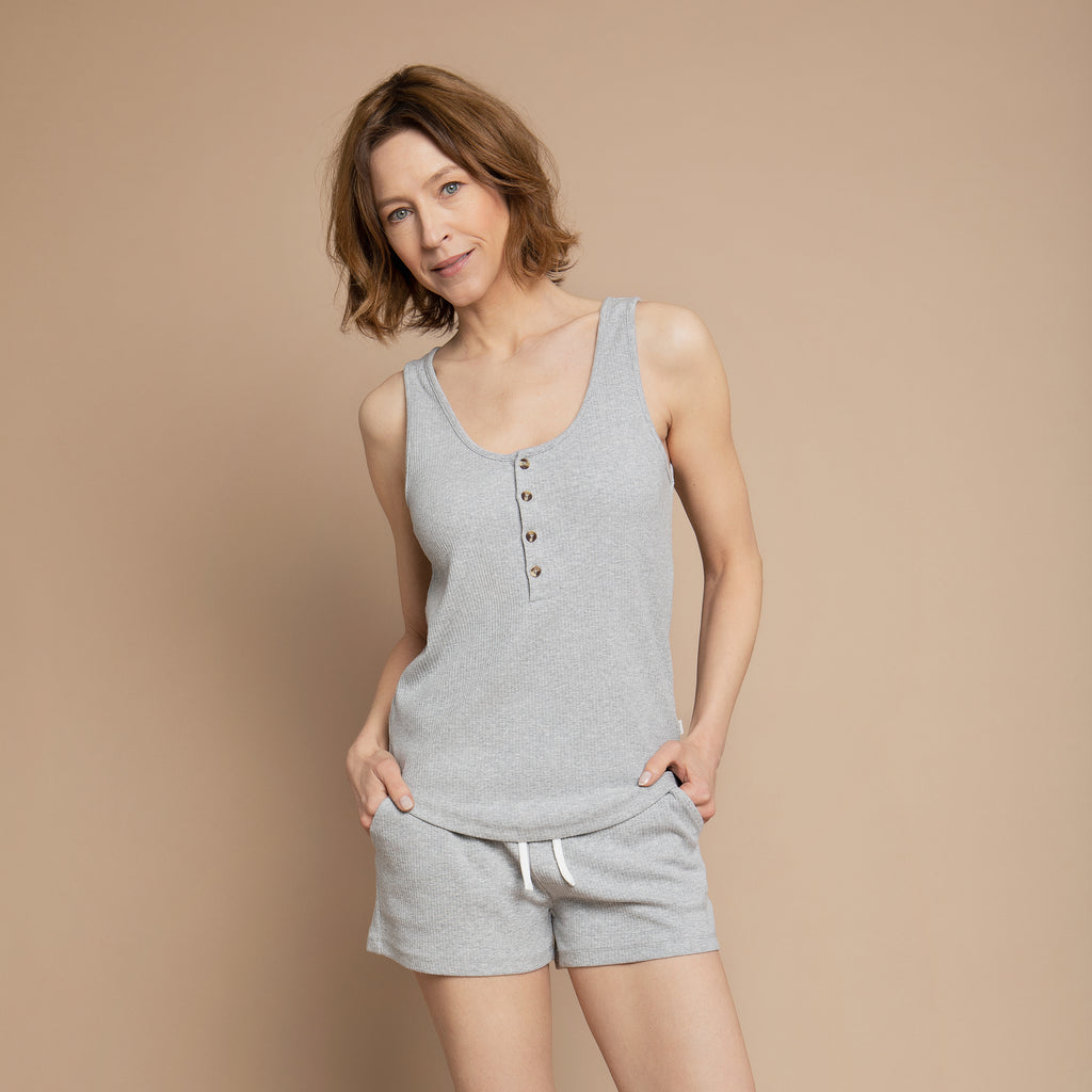 Heather Grey Modal Rib Women's Tank Top