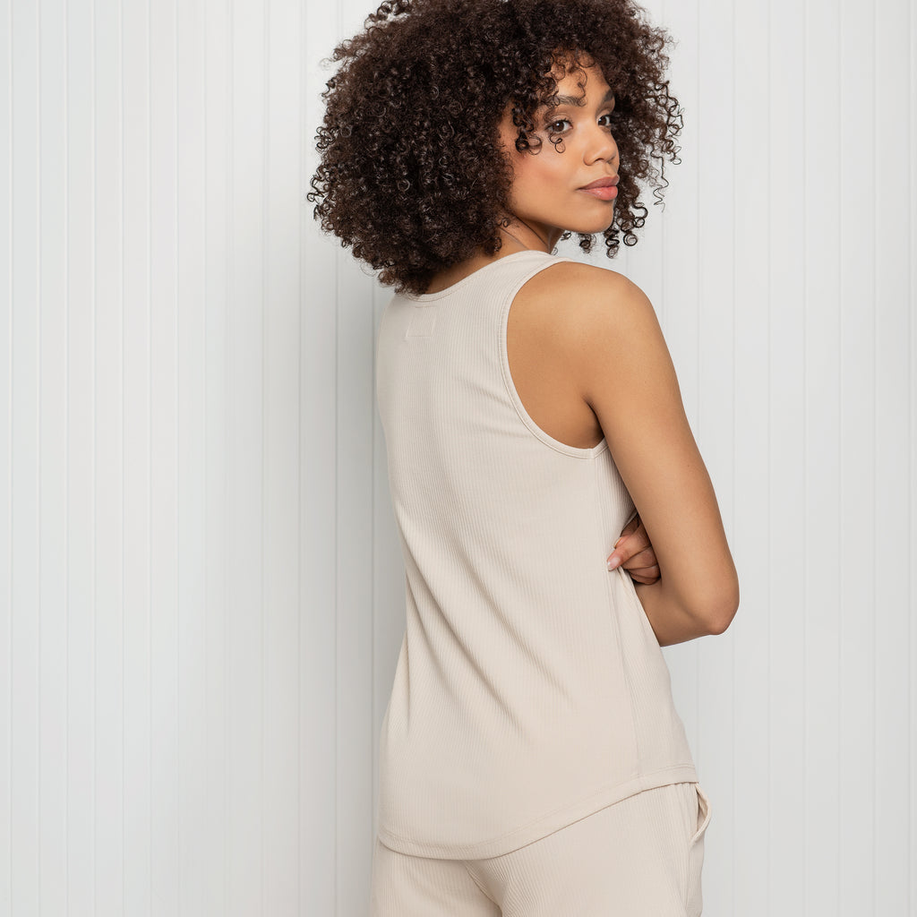 Naturelle Modal Rib Tank Top for Women