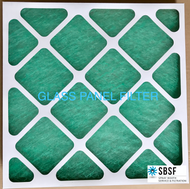 "Glass Panel Filter - G3 Classification - 395mm x 395mm x 22mm Deep (Nominal sizes 16"" X 16"" X 2"")"