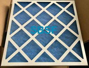 "Glass Panel Filter - G3 Grade - 395mm x 395mm x 22mm Deep (Nominal sizes 16"" X 16"" X 2"")"