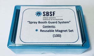 Spray Booth Guard System - Set of Magnets (100)