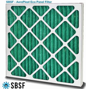 "Pleated Panel Filter - G4 Classification - 595mm x 595mm x 47mm Depth (Nominal sizes 24"" x 24"" x 2"")"