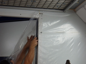 Spray Booth Guard System - Replacement Sheeting Roll - 4m Wide x 75m Long