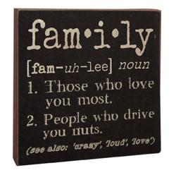 Definition Sign - Family