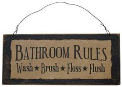 Bathroom Rules Sign