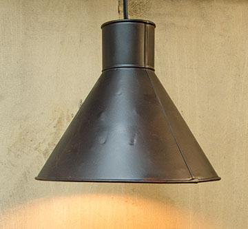 Black Tin Lamp w/ cord