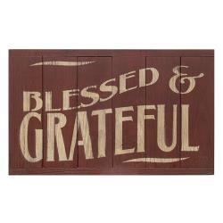 Blessed & Grateful 6-Panel Sign