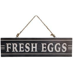 Fresh Eggs Sign w/Jute Hanger